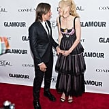 Nicole held on to Keith's hand at the 2017 Glamour Women of the Year Awards in NYC.