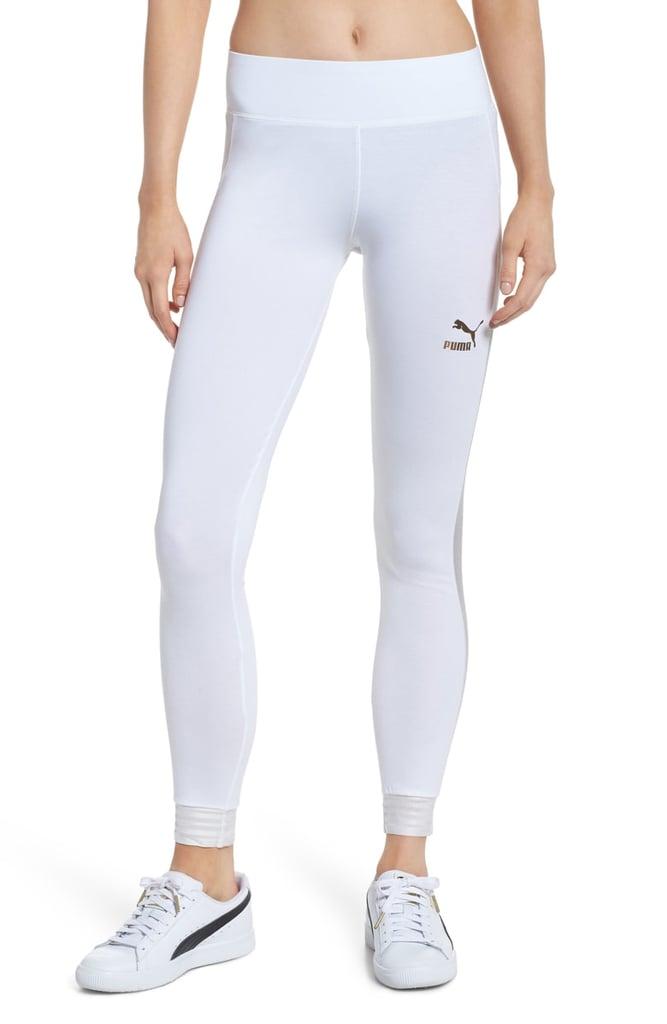 c64b9f6942a4cf PUMA T7 Leggings | White Workout Leggings | POPSUGAR Fitness Photo 4
