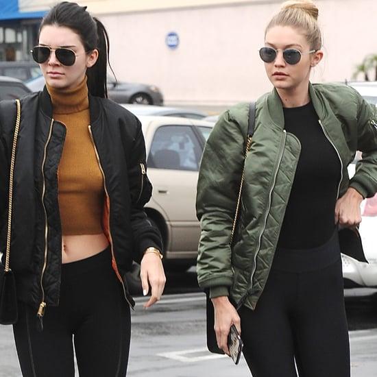 Kendall Jenner and Gigi Hadid Wearing Matching Jackets