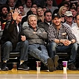 Pictures of Leonardo DiCaprio and Tom Hardy at a Lakers Game