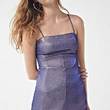 UO Sparkle Moon Beam Empire Waist Mini Dress