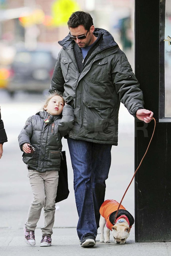 Hugh Jackman Returns to Dad and Dog Duty Following a Front Row Oscars Appearance