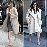 The Luxe Camel Coat and Strappy Heels