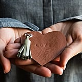 Leather Heart Key Chain