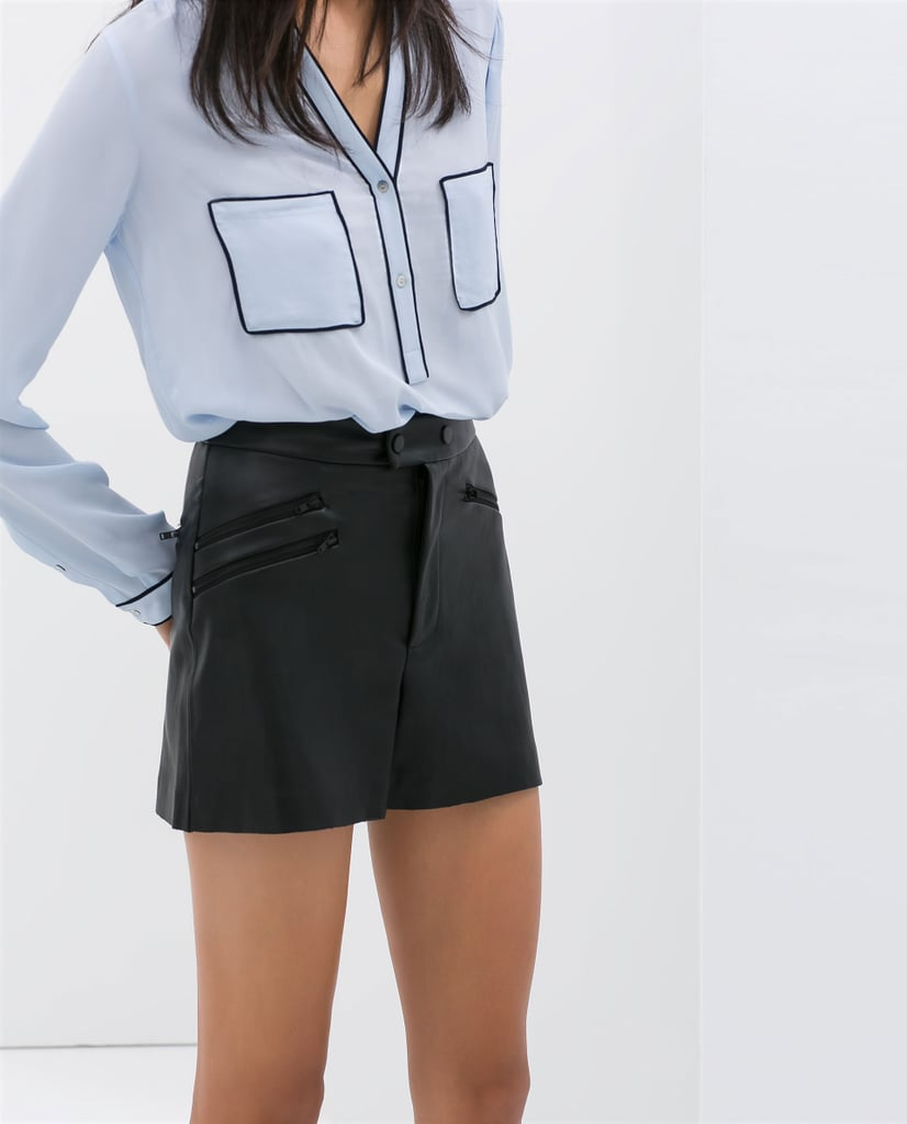 Zara Shorts With Zips ($60)