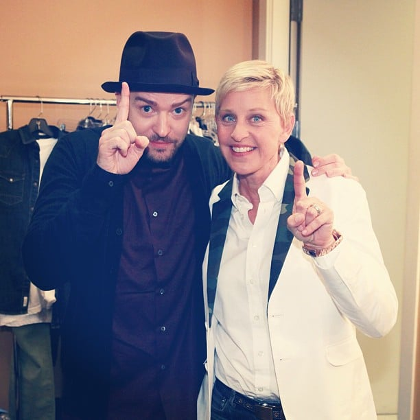 Justin Timberlake celebrated the release of his new album, The 20/20 Experience — 2 of 2, with Ellen DeGeneres. Source: Instagram user theellenshow