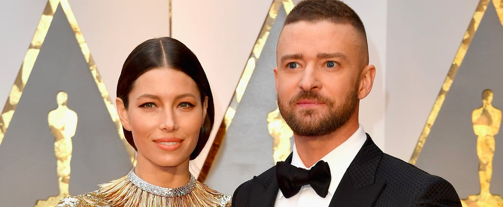 Justin Timberlake Brings His Golden Good-Luck Charm to the Oscars — Wife Jessica Biel!