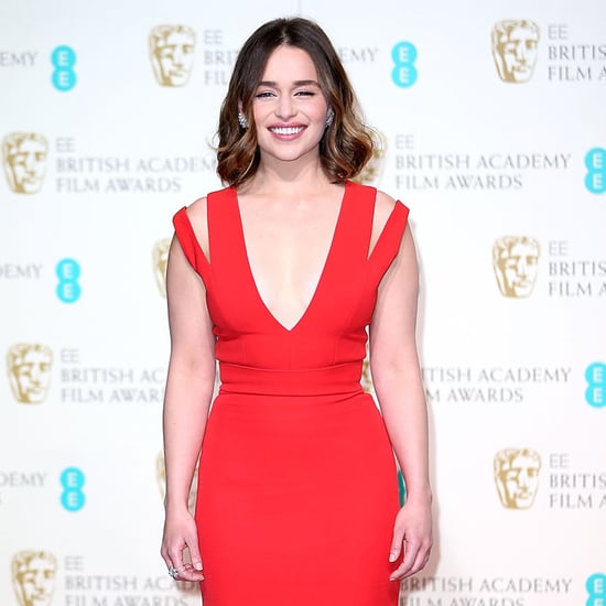 Red Dresses at BAFTA Awards February 2016
