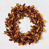 Artificial Hops Wreath in Brown