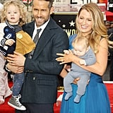James on the red carpet with mom, Blake Lively, and dad, Ryan Reynolds.
