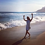 Kylie Minogue spent time on the beach in Rio. Source: Twitter user kylieminogue
