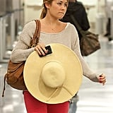 Lauren Conrad was casual-chic at the airport.