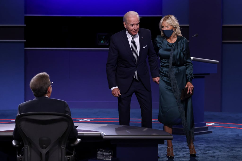 Jill Biden's Fringe Gabriela Hearst Dress at the 2020 Debate