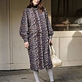 Style Your Leopard-Print Coat With: Tights and Platform Heels