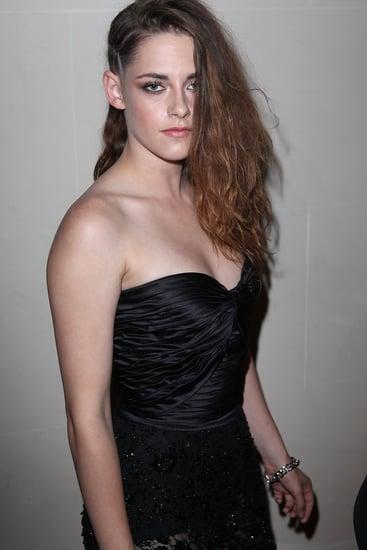 Kristen Stewart in See Through Pants & a Side Braid in Paris