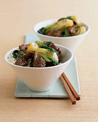 Fast & Easy Dinner: Korean Beef Bok Choy