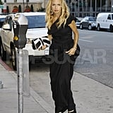 Stylish Rachel Zoe wears black in LA.