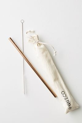 Ever Eco On-The-Go Rose Gold Straws