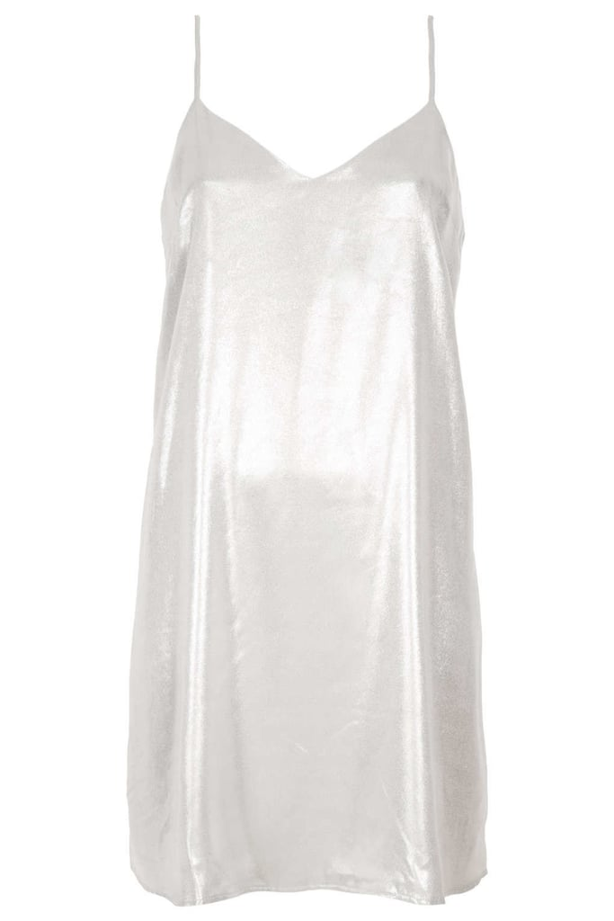 A Silver '90s-Inspired Slip Dress