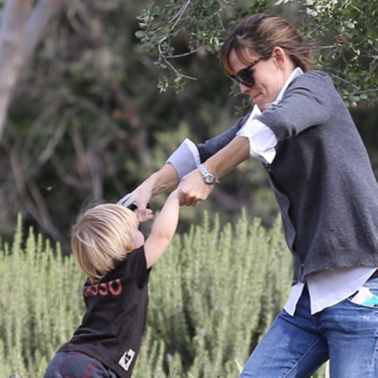 Jennifer Garner Swinging Samuel in LA
