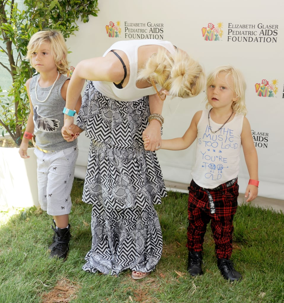 Gwen Stefani and sons, Kingston and Zuma, were in attendance for the annual A Time For Heroes Celebrity Picnic in LA.