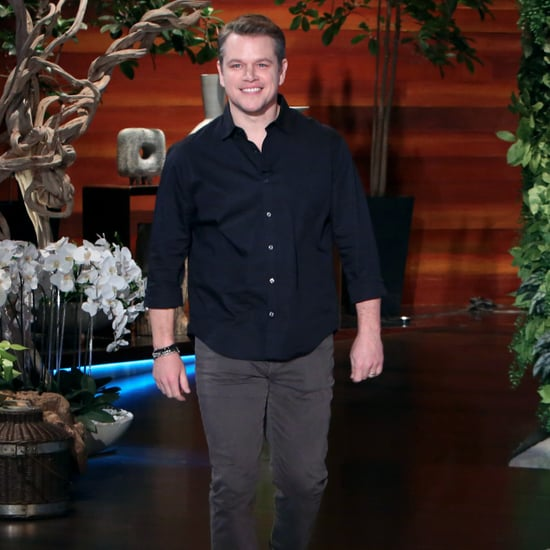 Matt Damon Talking George Clooney Twins on Ellen DeGeneres
