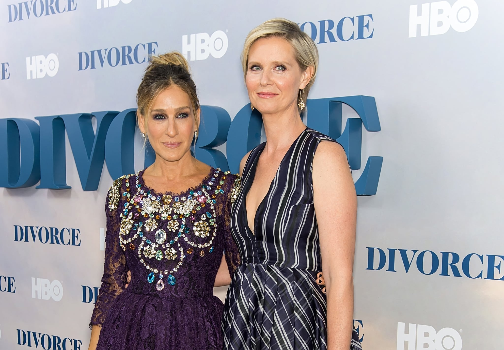 NEW YORK, NY - OCTOBER 04:  Actors Sarah Jessica Parker and Cynthia Nixon attend the 'Divorce' New York Premiere at SVA theatre on October 4, 2016 in New York City.  (Photo by Gilbert Carrasquillo/FilmMagic)