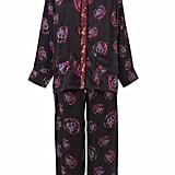 Stevie Howell Morgan Phoebe Flower Silk Pajama Set