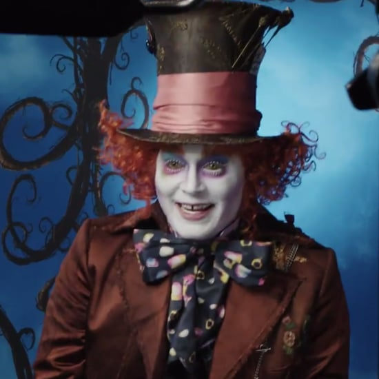 Johnny Depp Dresses Up as the Mad Hatter