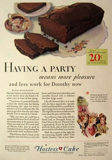It's my party and I'll eat Hostess cakes if I want to.