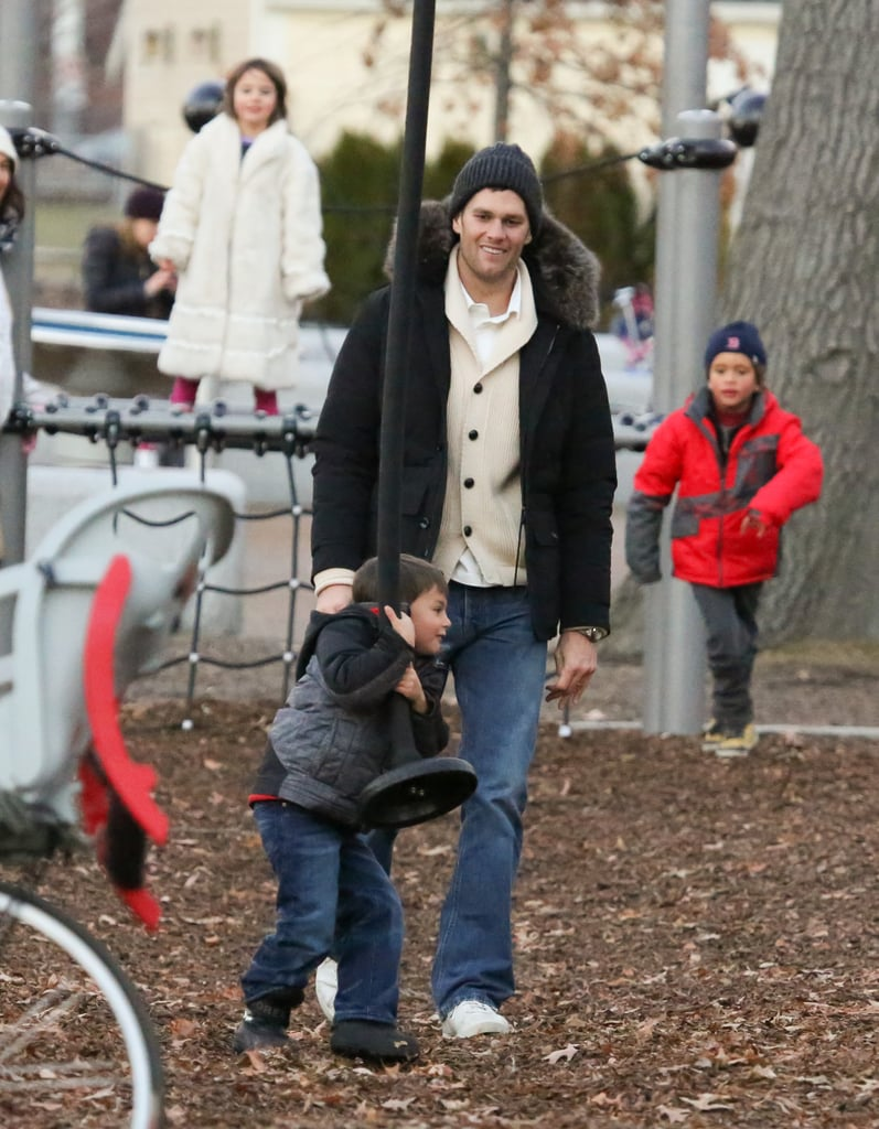 It's Lovely Weather For a Slide Ride With Tom Brady