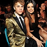 Justin Bieber and Selena Gomez Kiss For the Cameras at the Billboard Awards