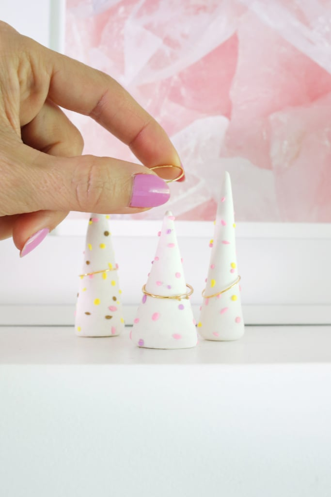 DIY Sprinkled Clay Ring Tower