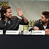 He tried to high-five Jensen, who was having none of it.