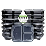 15-Pack 3-Compartment Bento Lunch Boxes