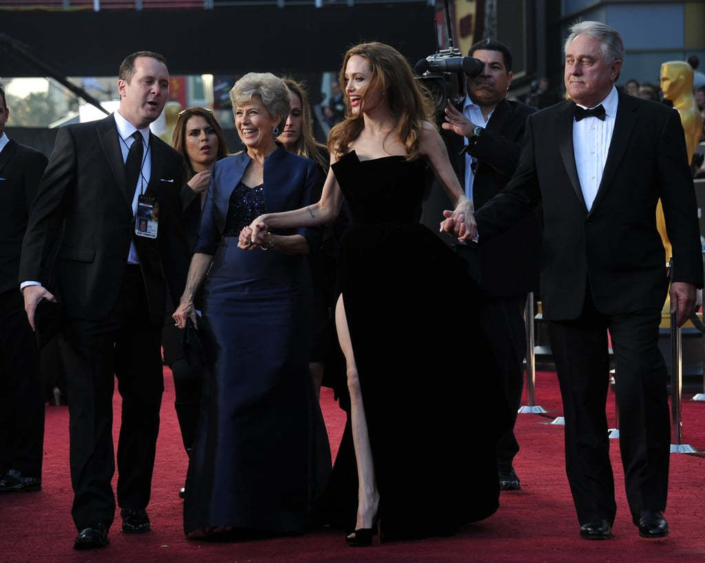 Angelina Jolie was flanked by Brad Pitt's parents.