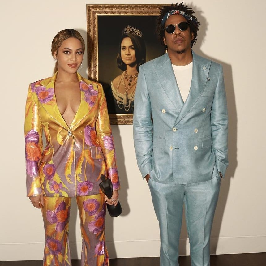 Beyoncé's Sexy, Shimmering '70s Suit Is Worth a First, Second, and Third Look