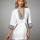 We love the handy pocket on this tunic — perfect for stashing some cash and a cell phone before you head to the market for a quick lunch.  Tory Burch Print-Trim Tunic ($184, originally $275)