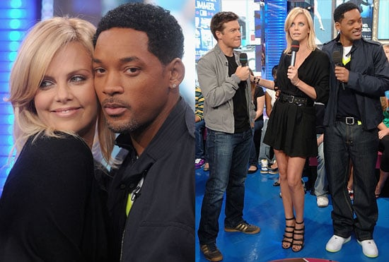 Photos of Charlize Theron, Will Smith and Jason Bateman Promoting Hancock on TRL