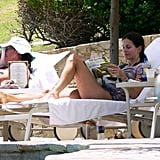 Courteney Cox lounged poolside at her Cabo resort in August 2006.