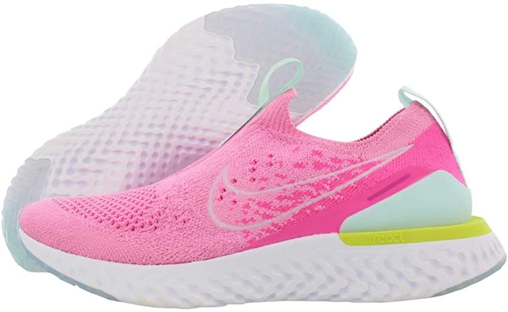 For a Neon Moment: Nike Women's Epic Phantom React Flyknit Running Shoes