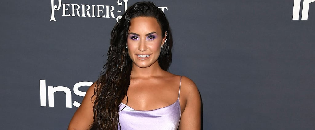Demi Lovato Looks Like She Was Dipped in a Pool of Lilac Water and Emerged a Goddess