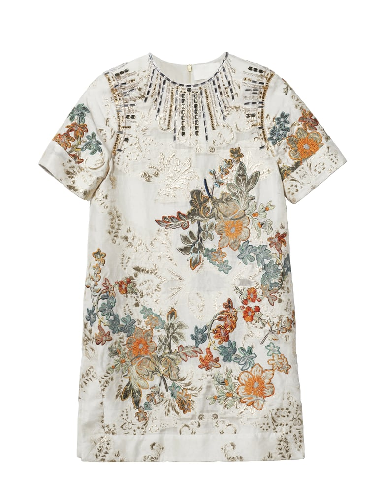 H&M Conscious Collection Embroidered Silk-Blend Dress (Sold Out)