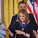 Gloria Steinem received a Presidential Medal of Freedom at the event.