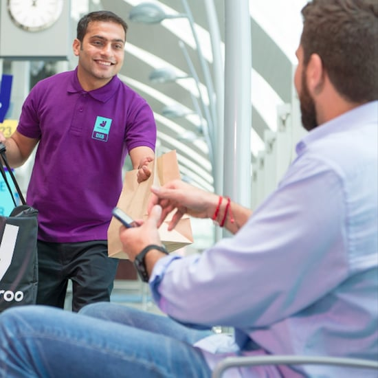 Deliveroo Direct to Airport Boarding Gate