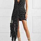 Jacquemus Valoria Wrap-Effect Fringed Bouclé Halterneck Mini Dress