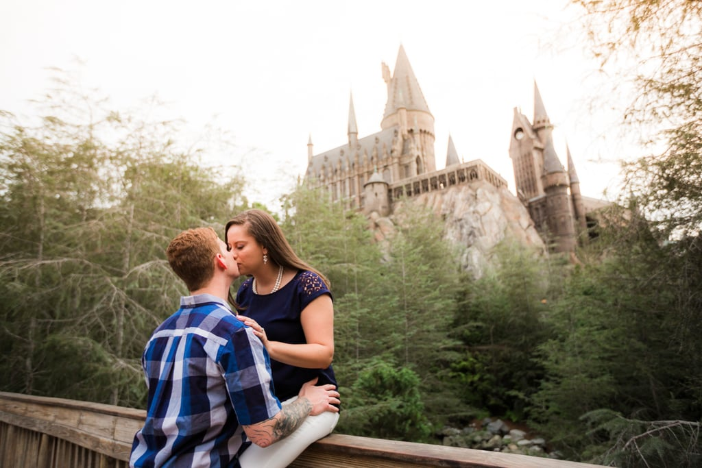 This Harry Potter World Engagement Shoot Is Sweeter Than Fizzing Whizbees