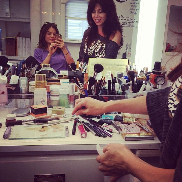 Lucy Hale hit up the hair and makeup chair. Source: Instagram user lucyhale89