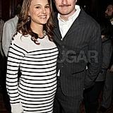 Natalie Portman Wears Stripes to Toast Her Black Swan Director