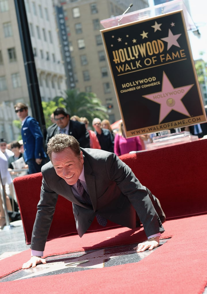 Bryan Cranston got a little goofy with his new star on the Hollywood Walk of Fame.